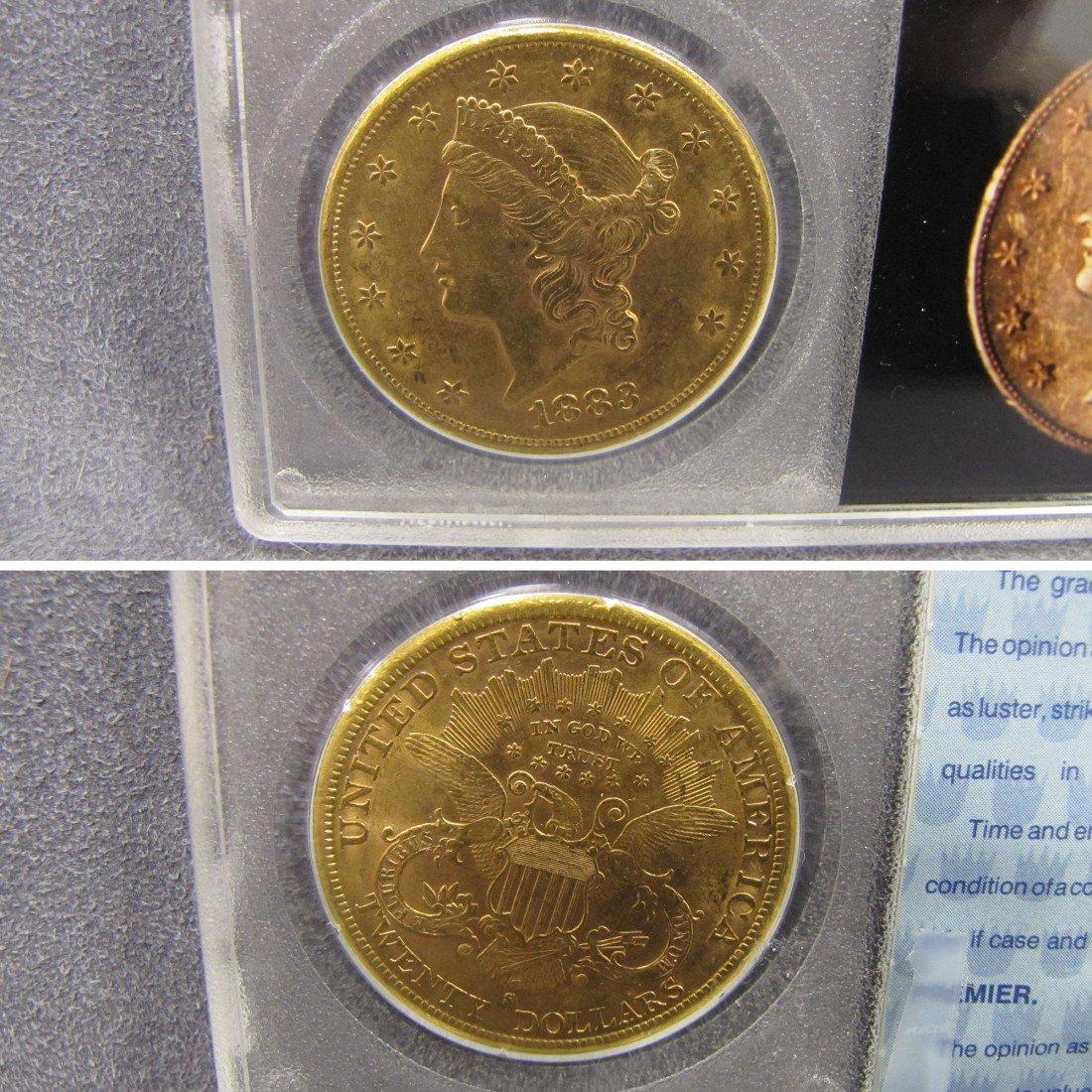 9: US 1883S TWENTY DOLLAR LIBERTY GOLD (XF)