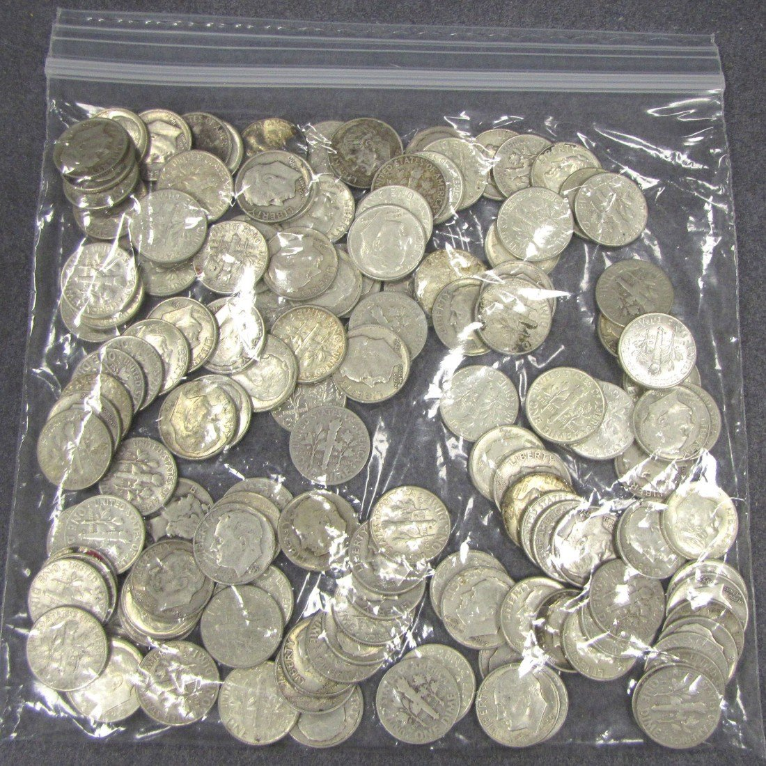 11: LOT APPROXIMATELY (150) ROOSEVELT SILVER DIMES