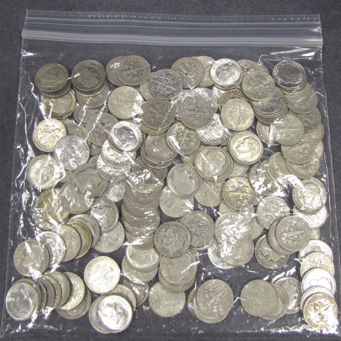 15: LOT APPROXIMATELY (150) ROOSEVELT SILVER DIMES