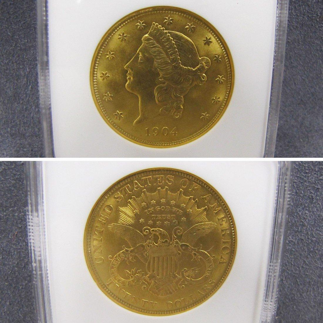 17: US 1904 TWENTY DOLLAR LIBERTY GOLD (MS-63 NGC)