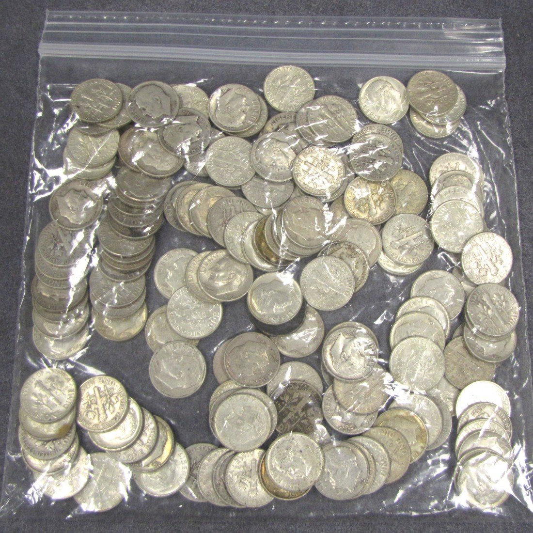 19: LOT APPROXIMATELY (150) ROOSEVELT SILVER DIMES