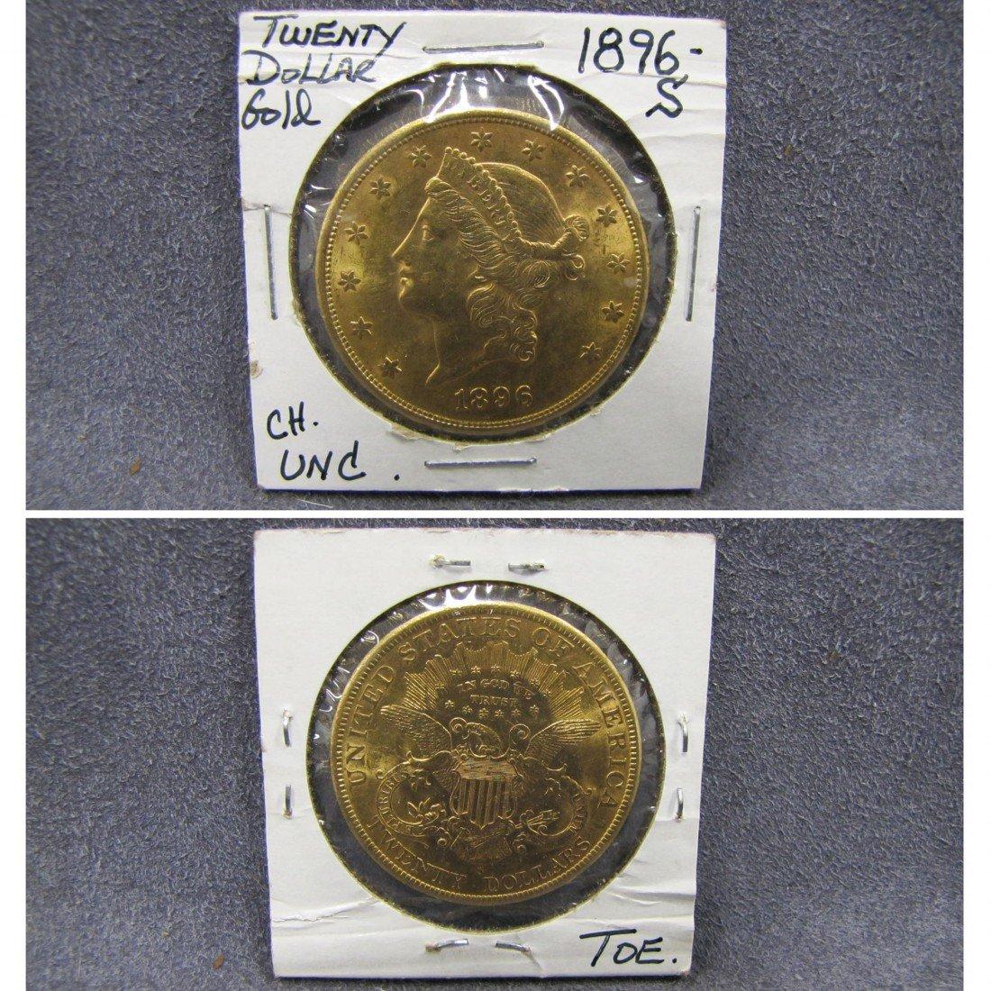 117: US 1896S TWENTY DOLLAR LIBERTY GOLD (UNC)