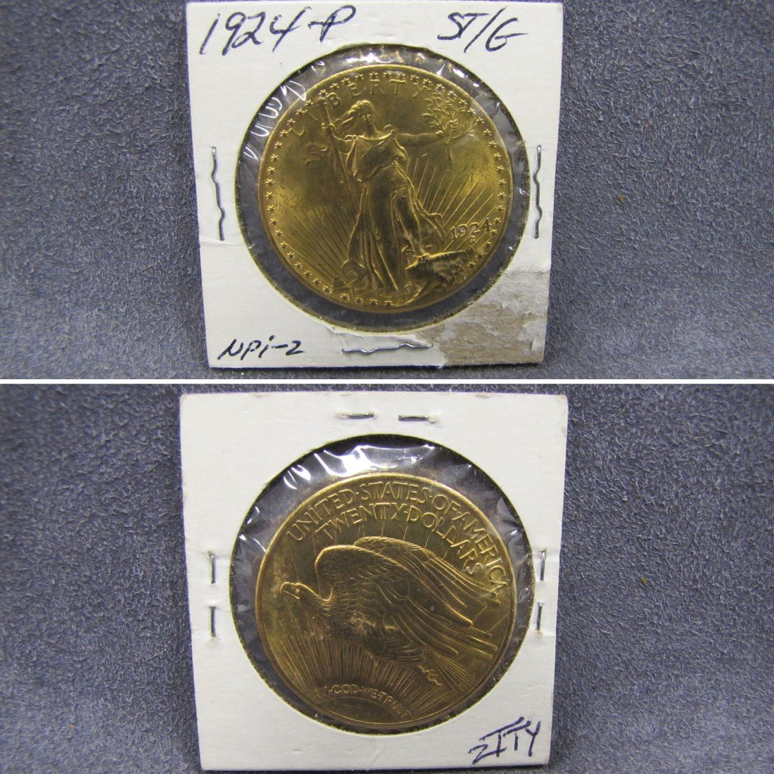 180: US 1924 TWENTY DOLLAR SAINT-GAUDENS GOLD (UNC)