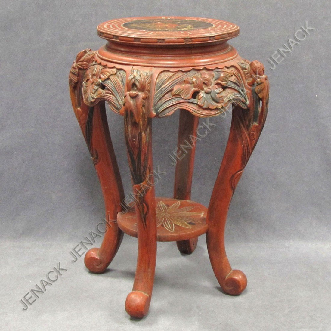 84: JAPANESE CARVED AND LACQUERED STAND