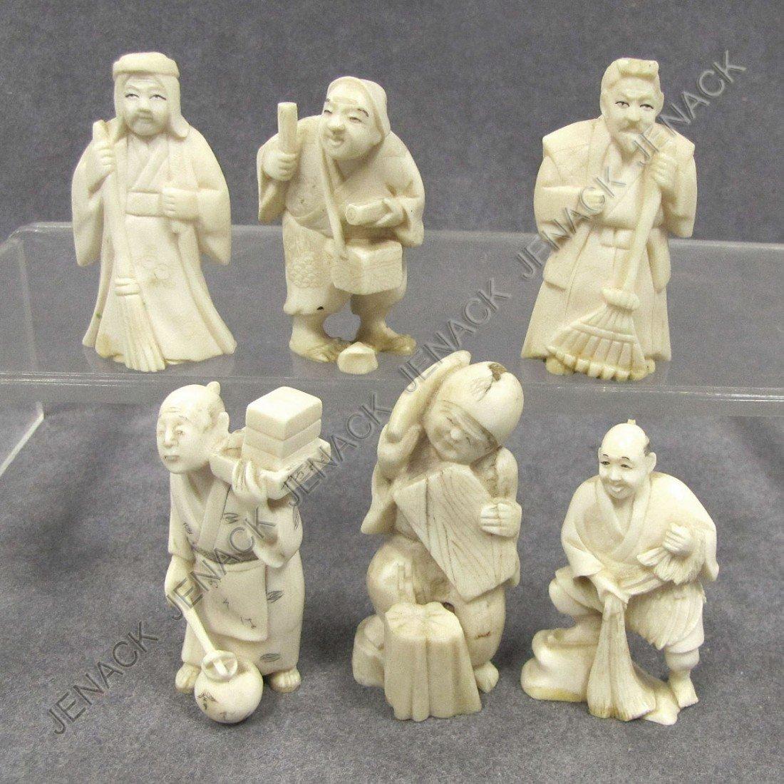109: LOT (6) JAPANESE OKIMONO FIGURES