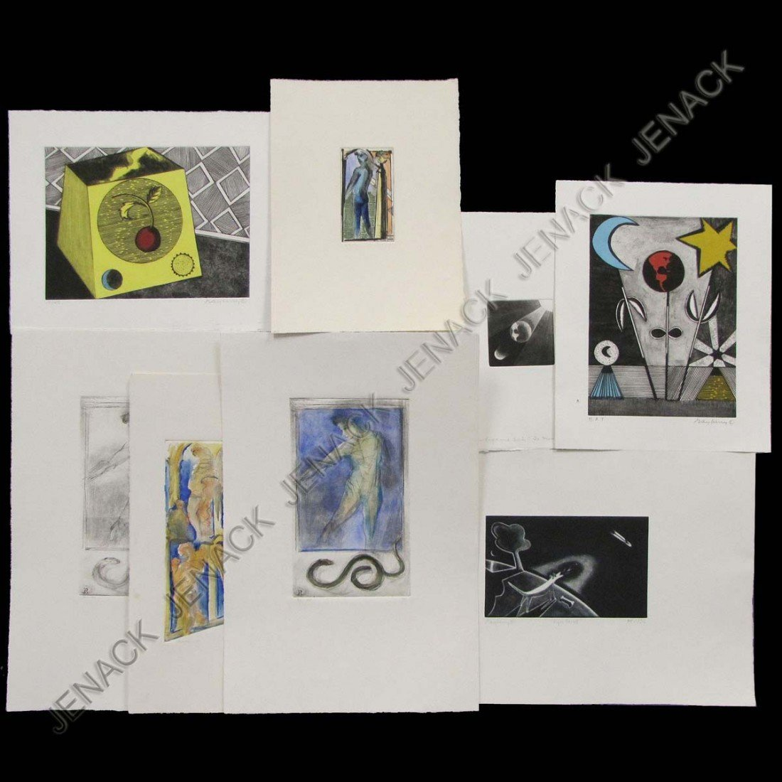 8: VARIOUS ARTISTS (20TH CENTURY), LOT (8) ETCHINGS