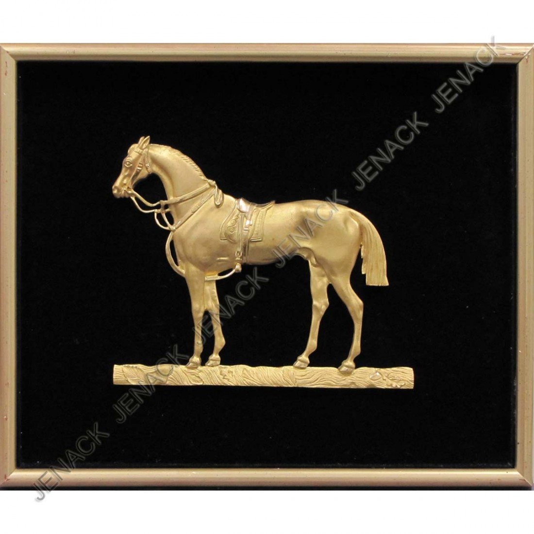 12: FRENCH GILT BRONZE RELIEF, HORSE