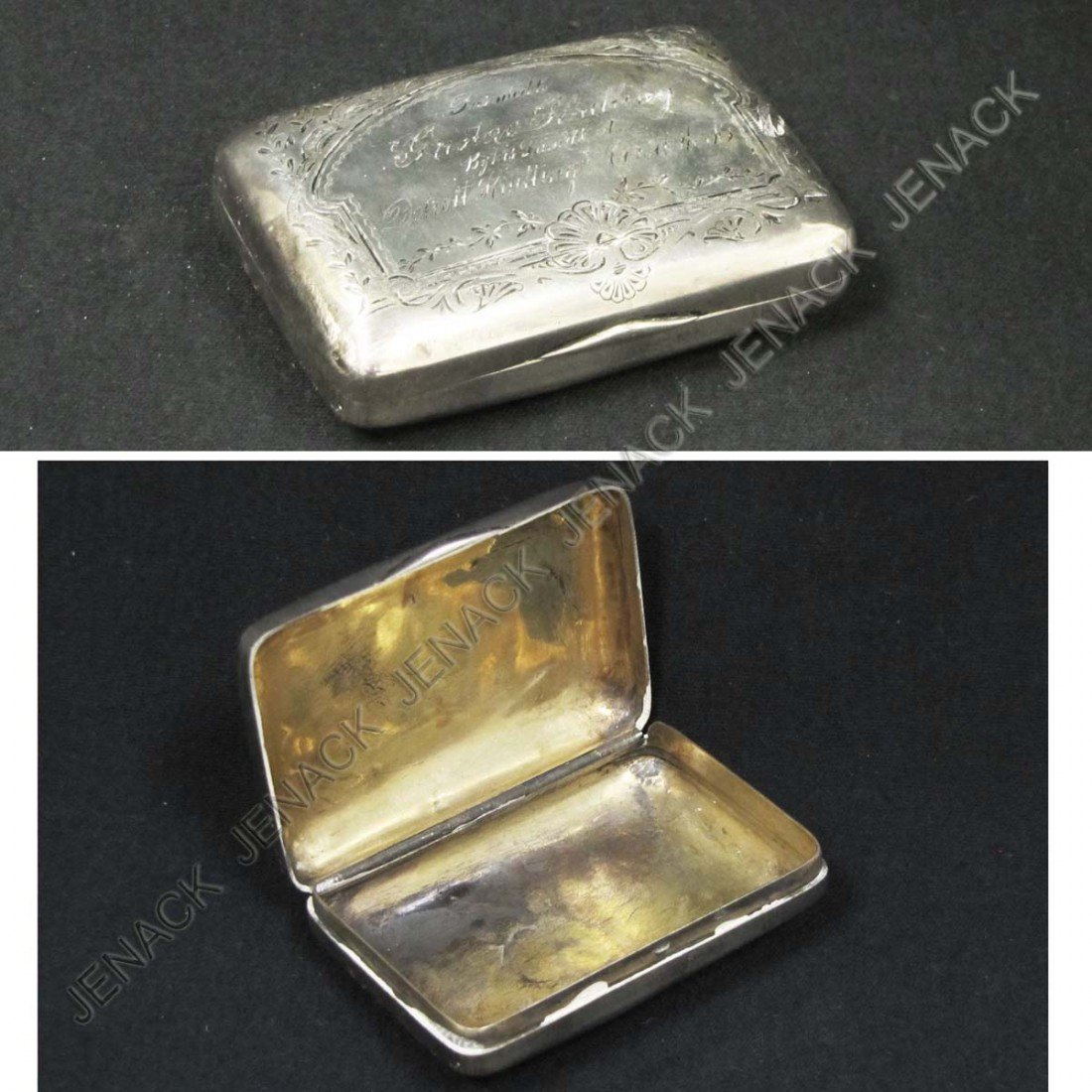 22: WHITING VINTAGE STERLING SILVER SNUFF BOX