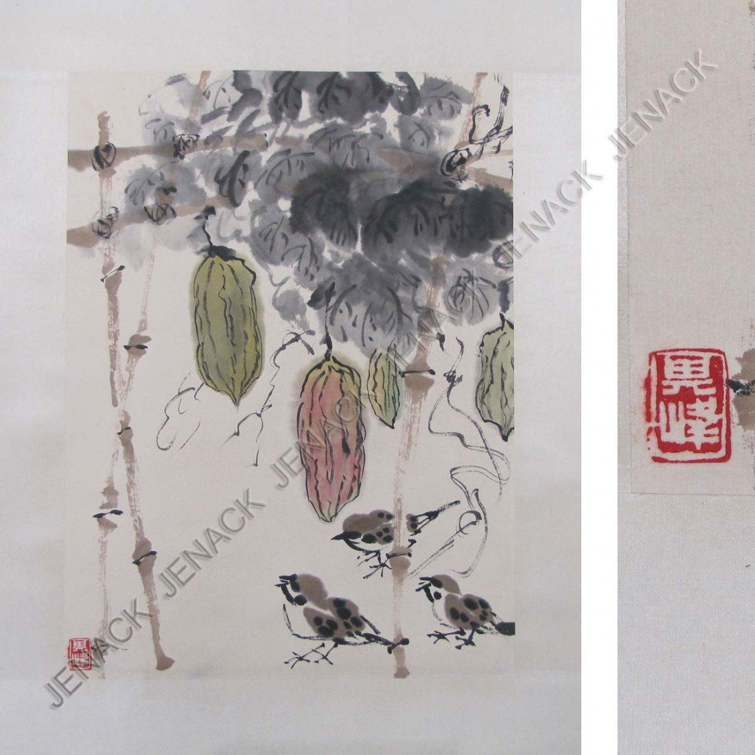 35: MANNER OF SUN QI FENG, CHINESE SCROLL PAINTING