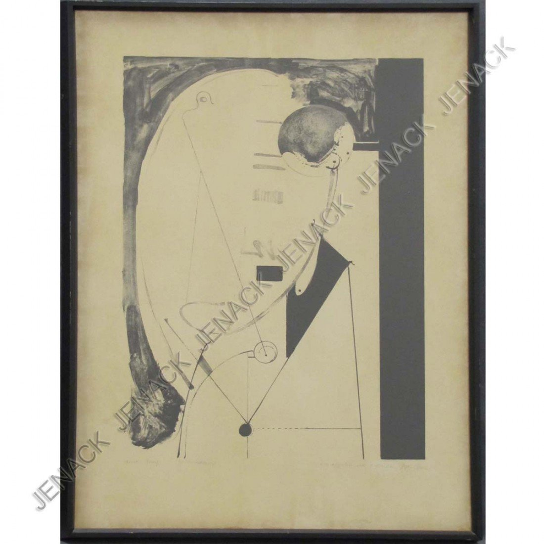51: STEPHEN GREENE (AMERICAN 1917-1999), LITHOGRAPH