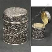 318 GORHAM REPOUSSE STERLING SILVER DRESSER JAR