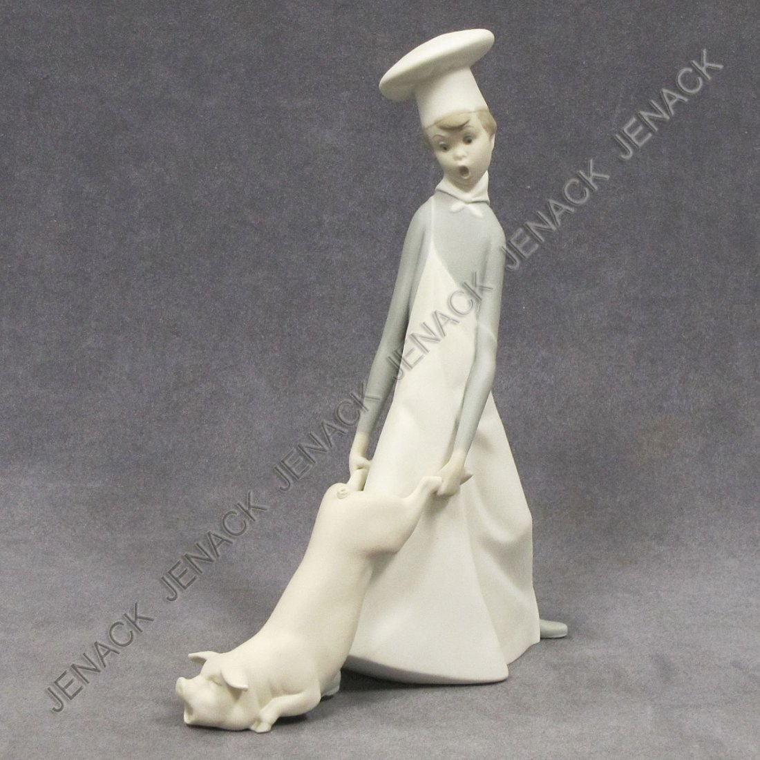 14: LLADRO PORCELAIN FIGURE, COOK IN TROUBLE, #4608