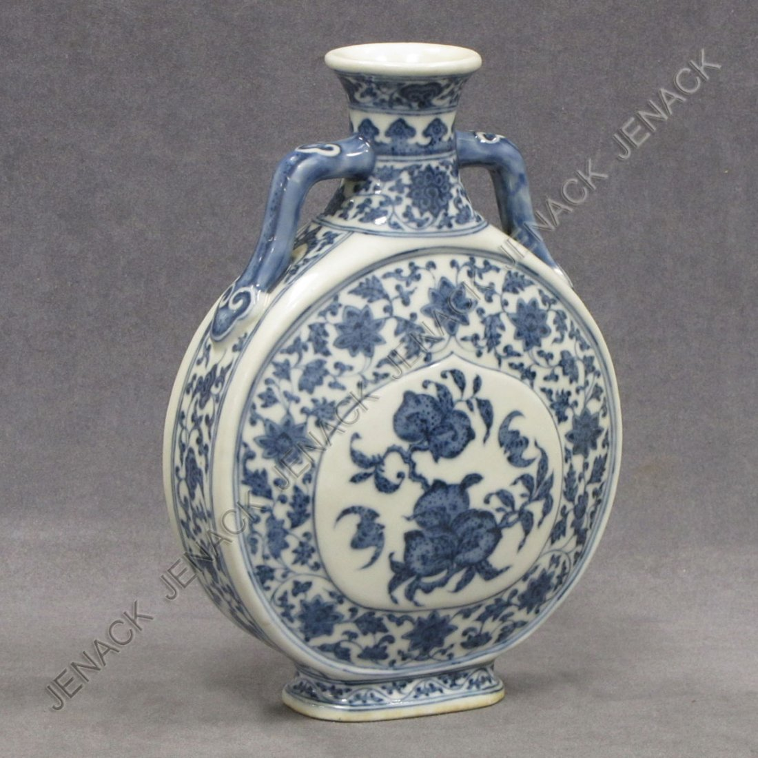 68: CHINESE DECORATED PORCELAIN MOON FLASK
