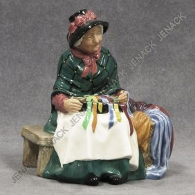 ROYAL DOULTON PORCELAIN FIGURE, SILKS AND RIBBONS
