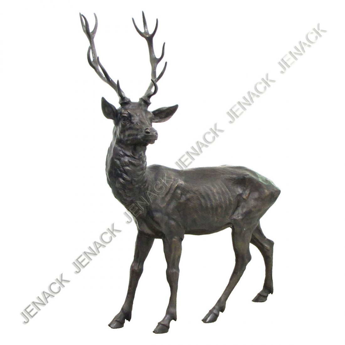 131: BRONZE FIGURE, RED STAG