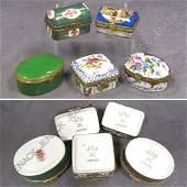 149: LOT (5) ASSORTED LIMOGES PORCELAIN BOXES