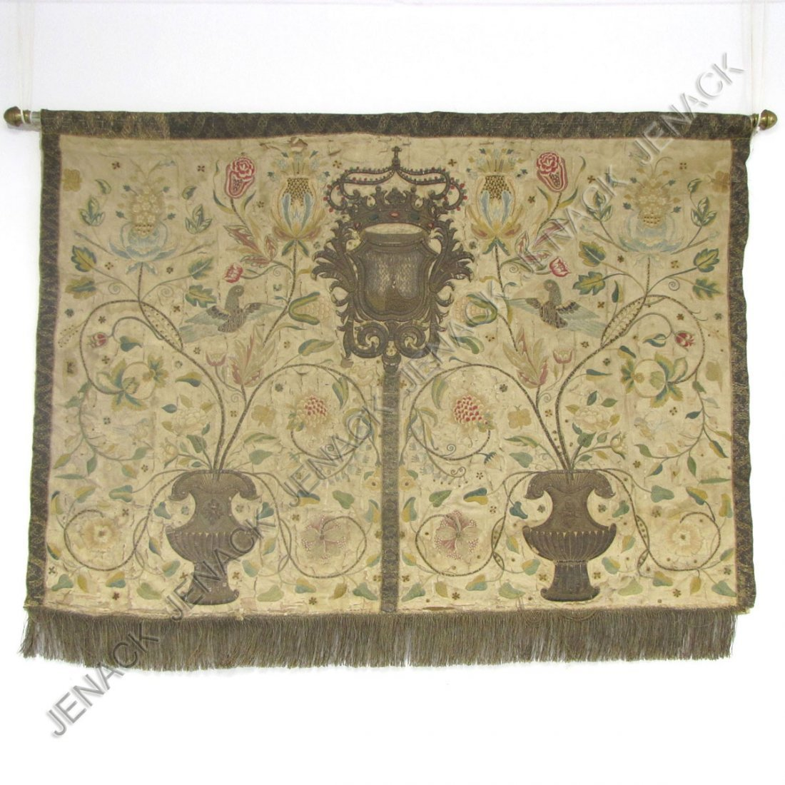 176: EMBROIDERED PANEL, EPISCOPAL ALTAR FRONT