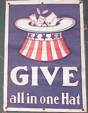 3: LITHOGRAPH/CANVAS BANNER, GIVE ALL IN ONE HAT