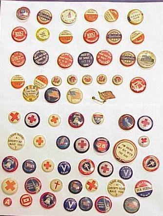 5: LOT (66) ASSORTED VINTAGE PIN BACK BUTTONS