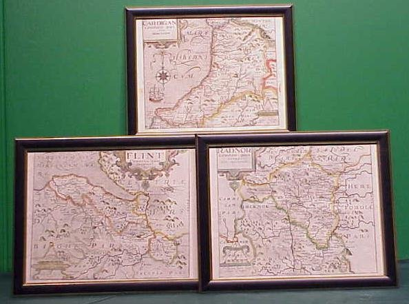 11: LOT (3) ENGRAVED MAPS, WALES