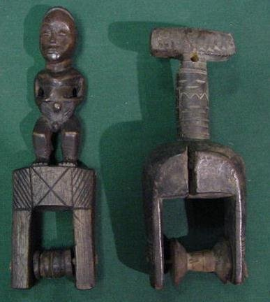1: LOT (2) BAULE CULTURE HEDDLE PULLEYS