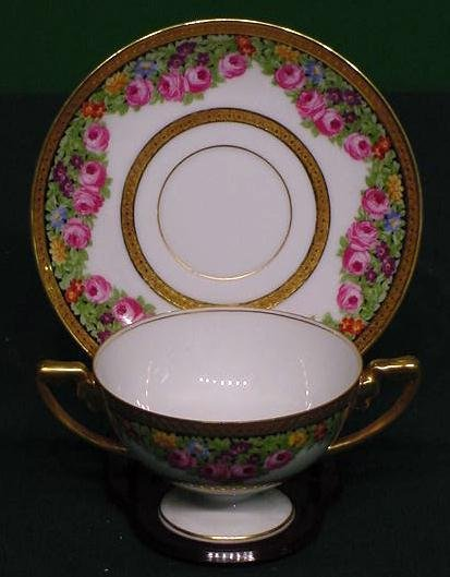 6: SET (9) ROSENTHAL BOUILLON CUPS/SAUCERS