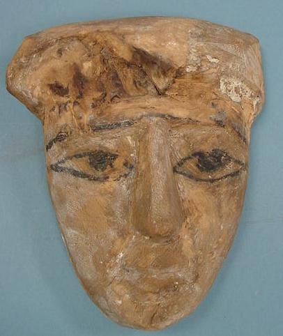 3006: EGYPTIAN WOOD MASK PTOLEMAIC PERIOD