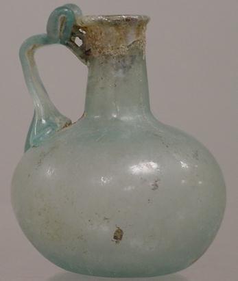 3011: ROMAN GREEN GLASS VESSEL