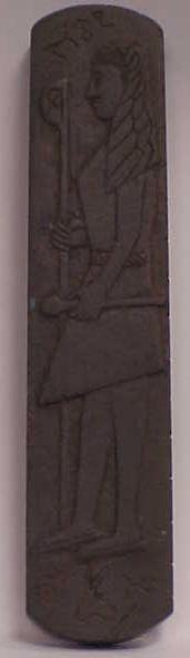 3014: EGYPTIAN CARVED STONE MESSAGE CARTOUCHE