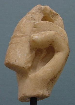 3017: ROMAN MARBLE FRAGMENT OF FEMALE