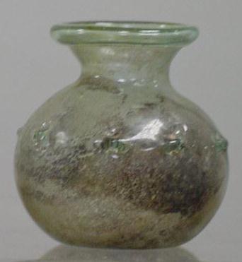 3020: ROMAN PALE GREEN GLASS BOTTLE