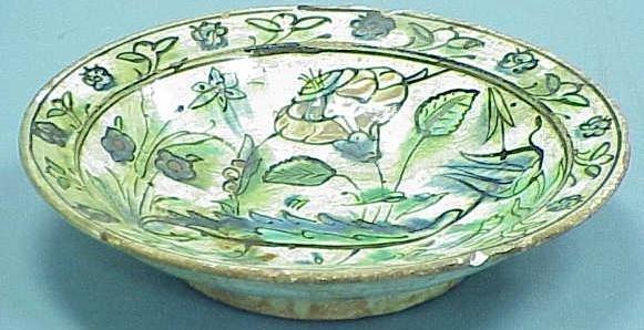 3024: PERSIAN GLAZED POTTERY BOWL