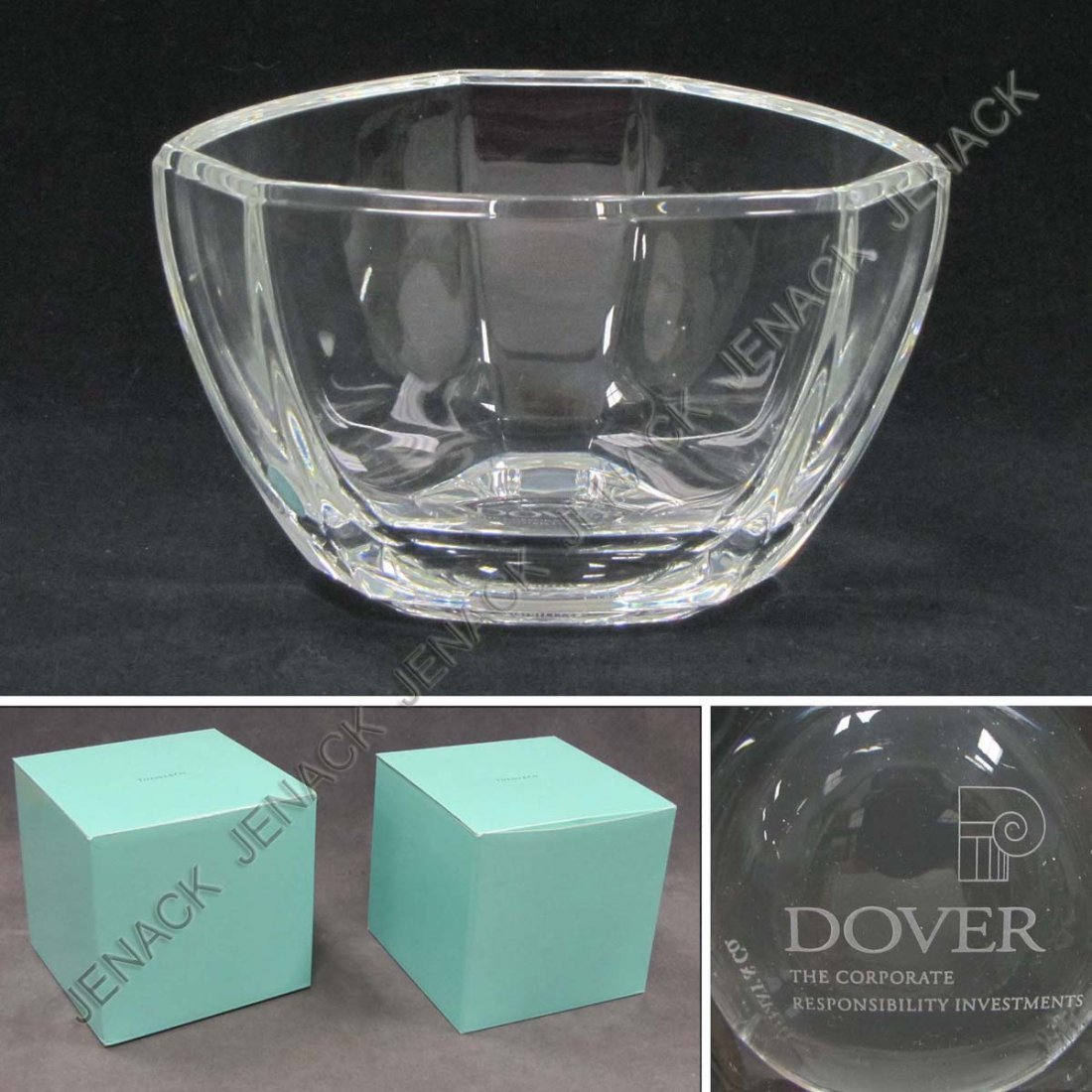 1: LOT (2) TIFFANY & CO PRESENTATION ENGRAVED BOWLS