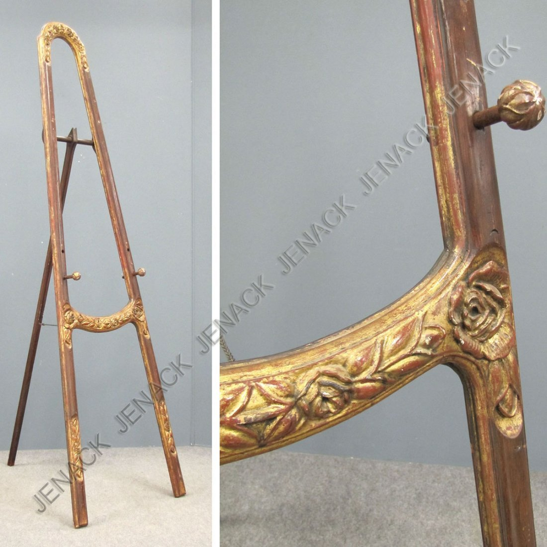 7: FRENCH STYLE CARVED AND GILT PAINTING EASEL