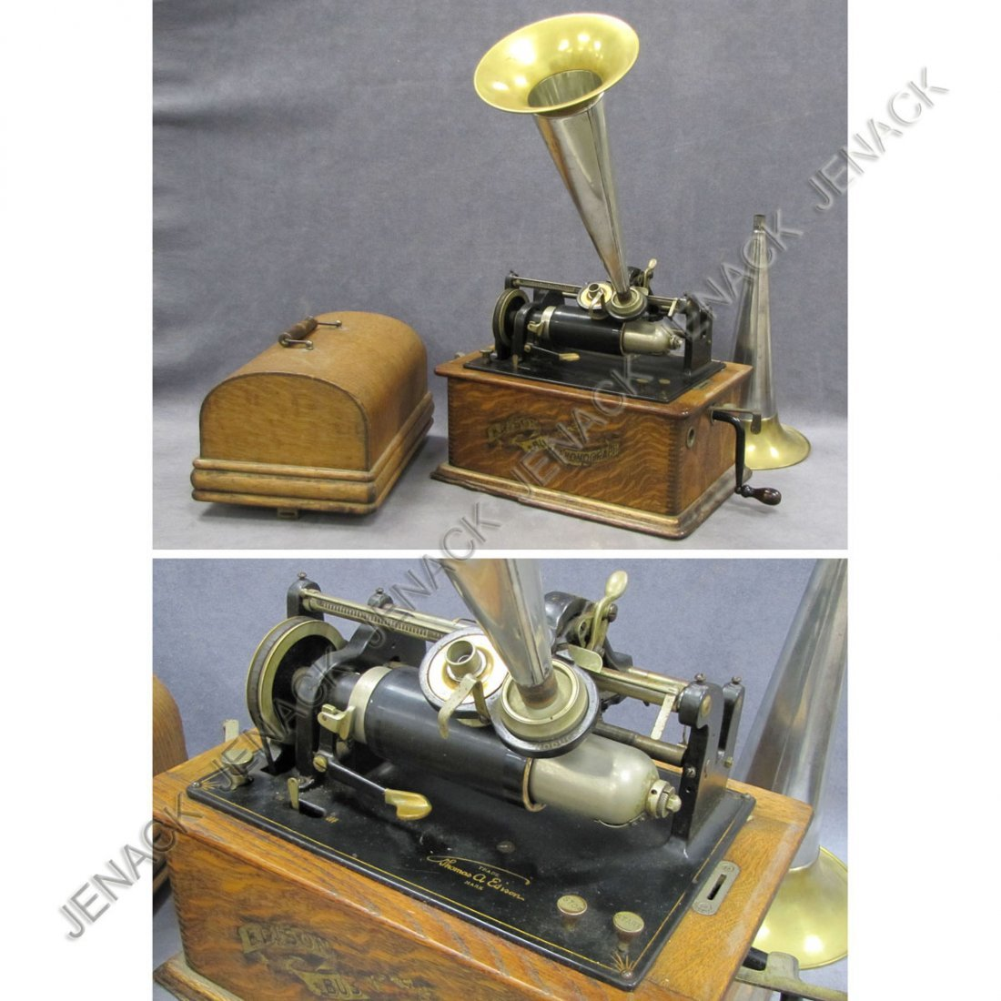 11: VINTAGE EDISON BUSINESS PHONOGRAPH, MODEL C