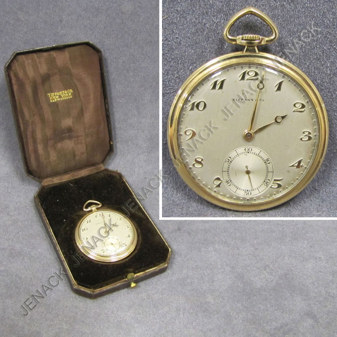 12: VINTAGE TIFFANY & CO./IWC 14K 15-JEWEL POCKET WATCH