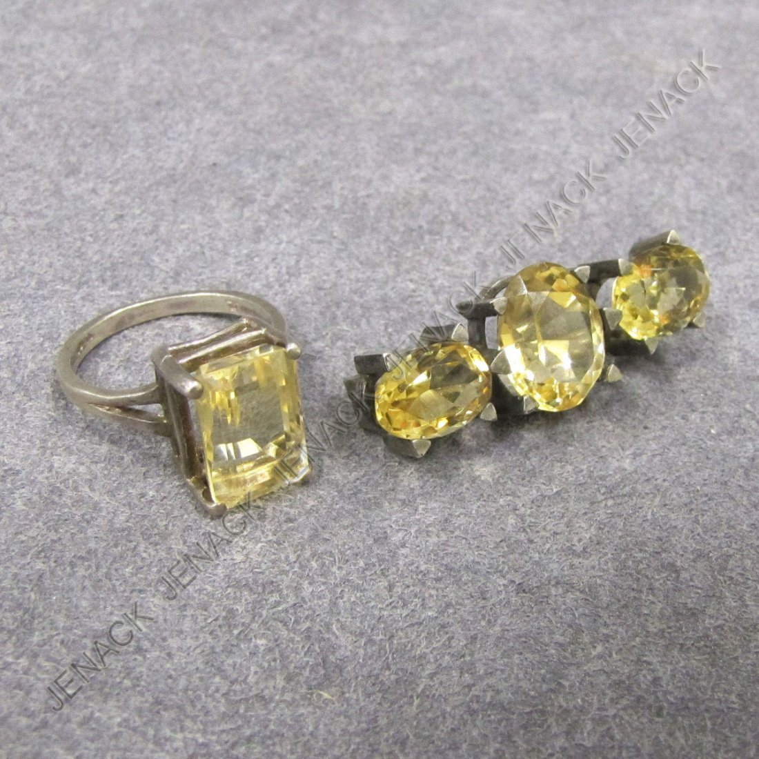 20: LOT (2) INCLUDING 925 STERLING CITRINE RING