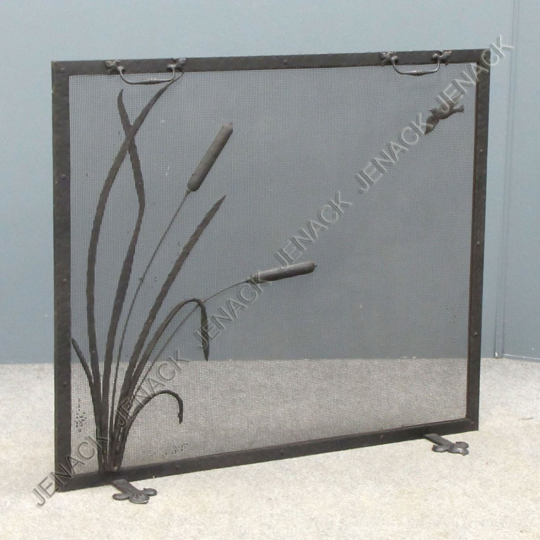 19: CRAFTSMAN WROUGHT IRON FIREPLACE SCREEN