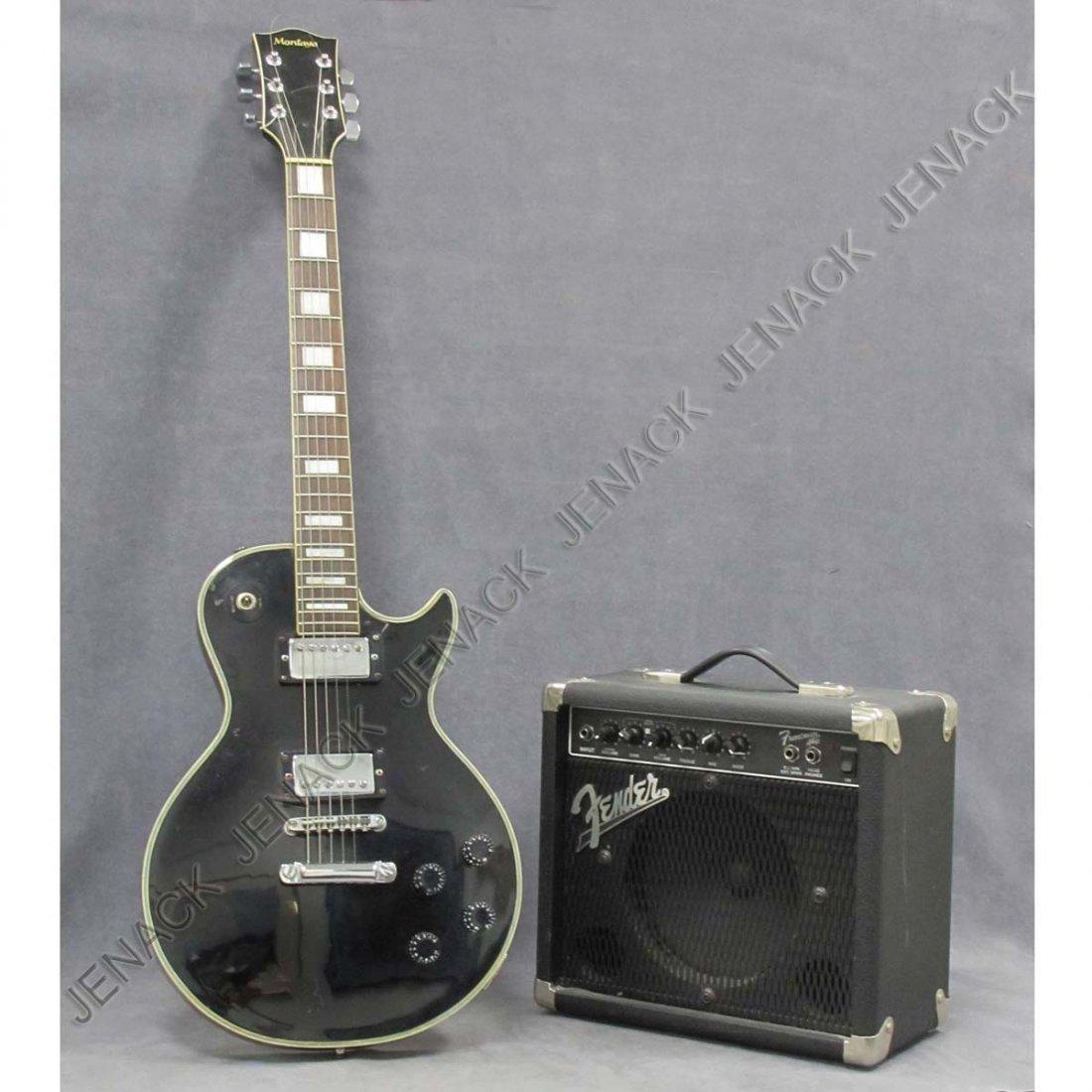 3: MONTAYA ELECTRIC GUITAR & FENDER AMP