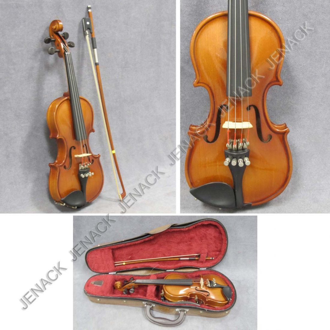 10: CHILD'S HALF-SIZE VIOLIN WITH BOW AND CASE
