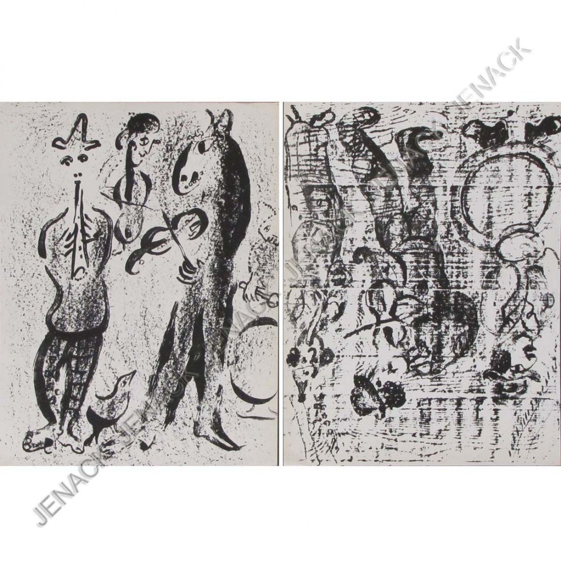 22: AFTER MARC CHAGALL, LOT (2) LITHOGRAPHS INCLUDING