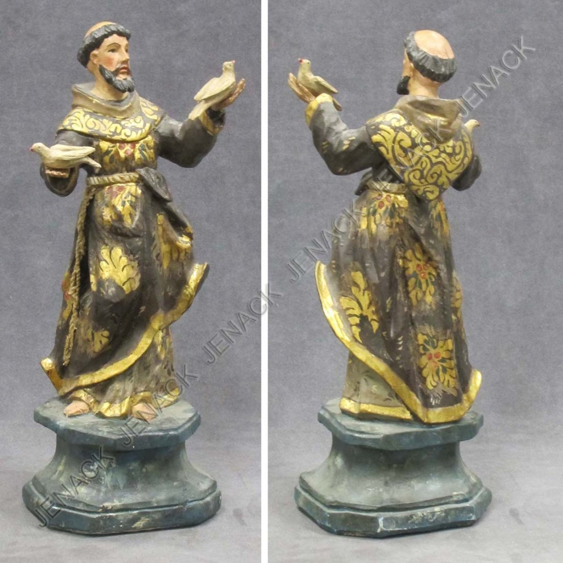 14: SPANISH COLONIAL CARVED AND PAINTED SANTOS FIGURE
