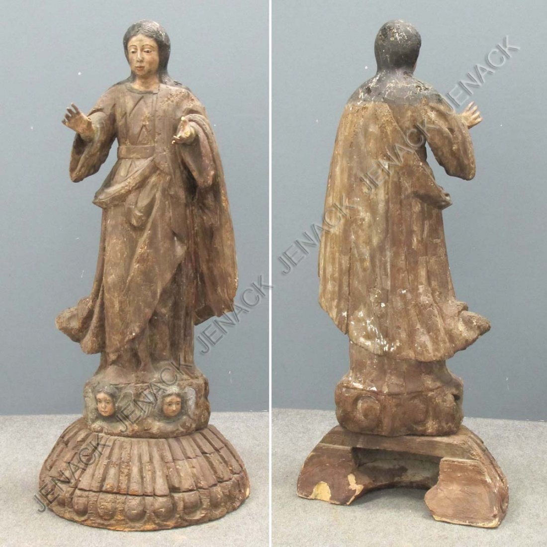 15: SPANISH COLONIAL CARVED AND PAINTED SANTOS FIGURE