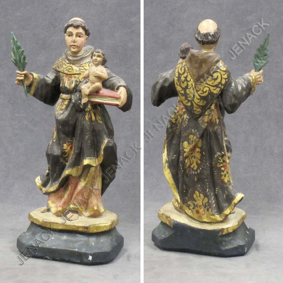 20: SPANISH COLONIAL CARVED AND PAINTED SANTOS FIGURE