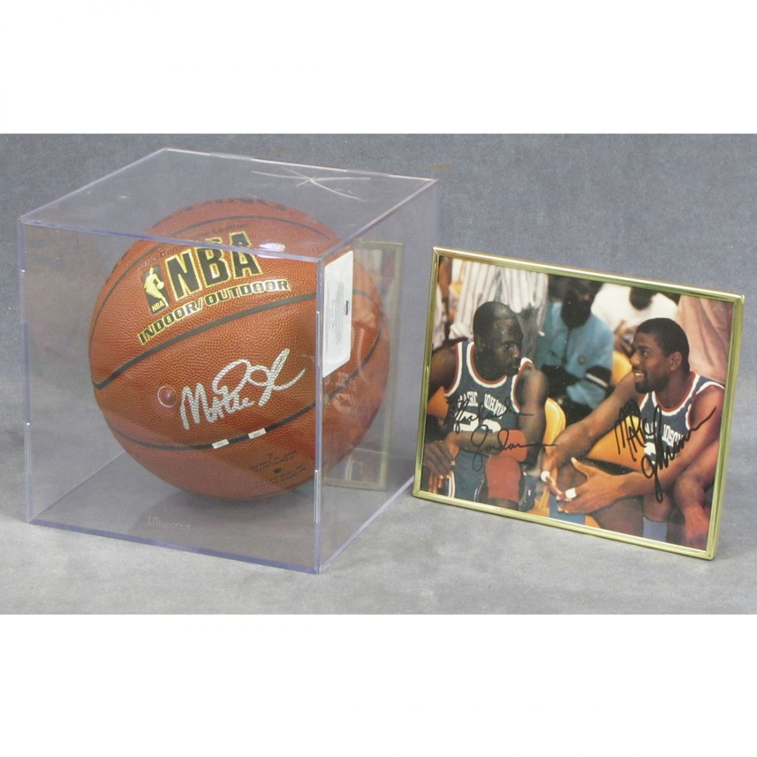 9: LOT (2) BASKETBALL RELATED ITEMS