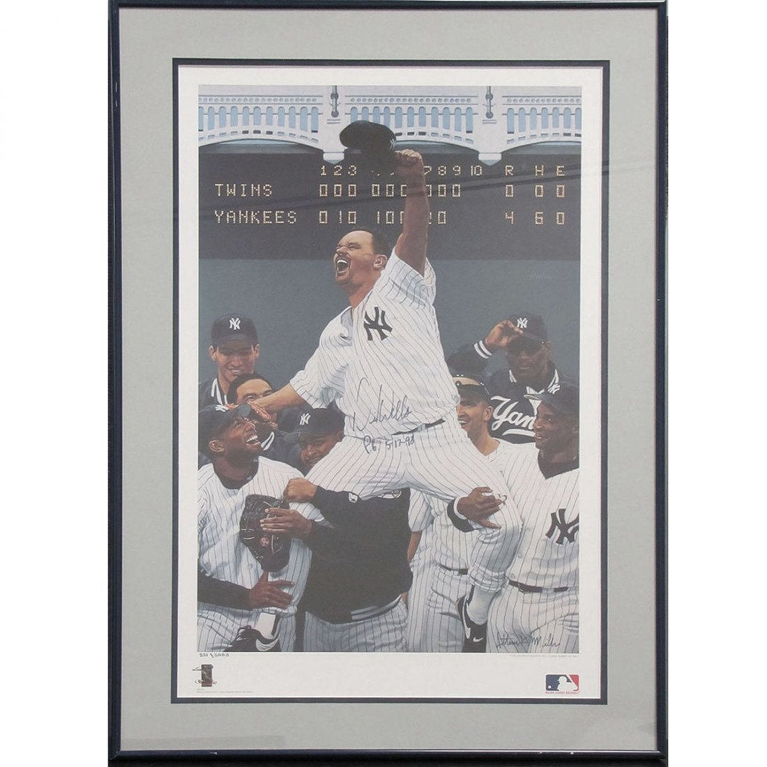 16: DAVID WELLS AUTOGRAPHED LIMITED EDITION POSTER