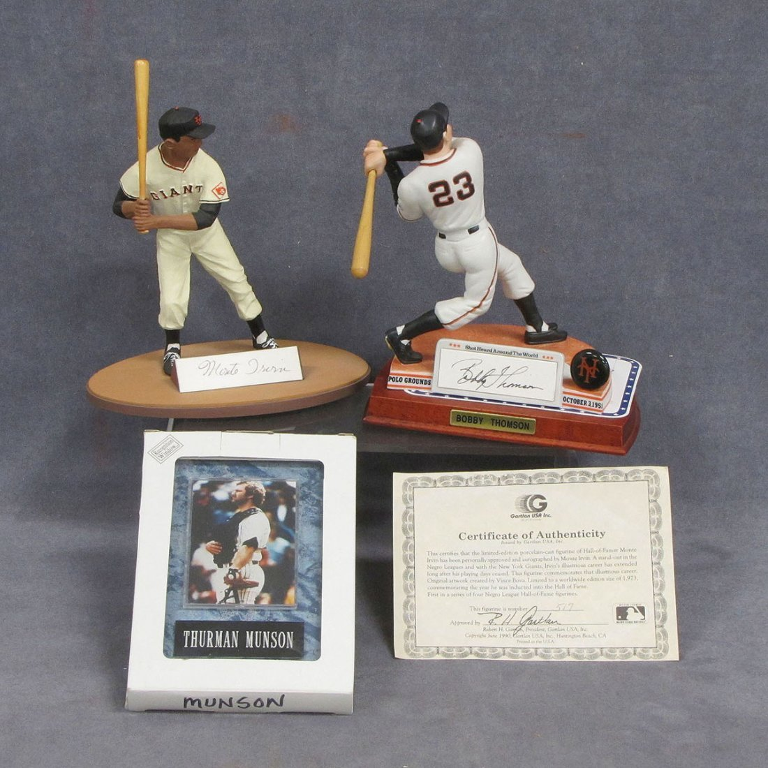 17: LOT (3) INCLUDING LIMITED EDITION SIGNED FIGURES