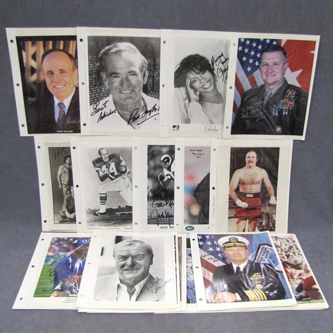 21: LOT (42) ASSORTED AUTOGRAPHED AND INSCRIBED PHOTO