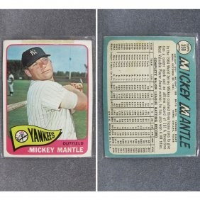 1965 TOPPS MICKEY MANTLE #350 BASEBALL CARD (VG+)