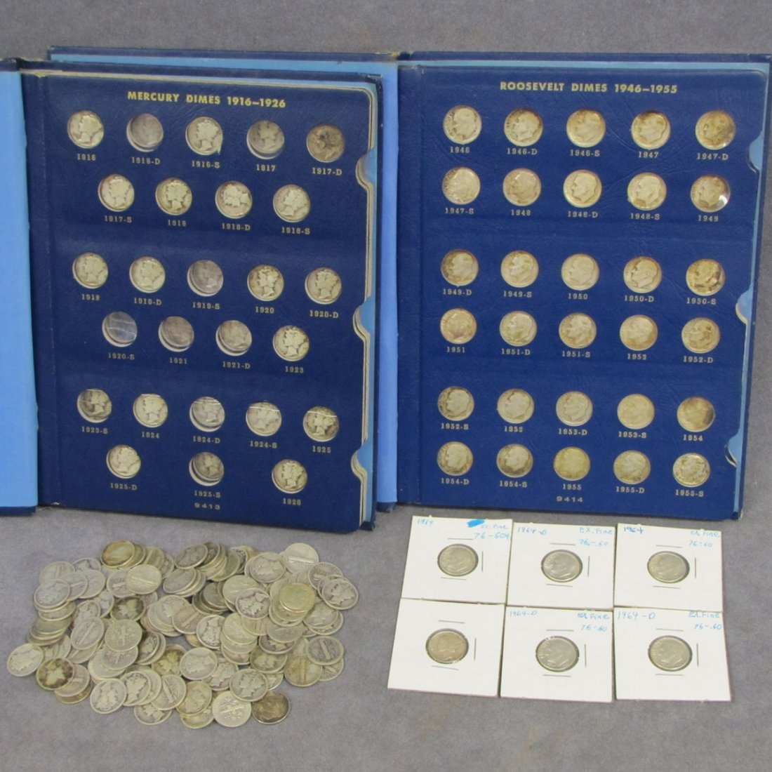64: LOT (239) ASSORTED MERCURY AND SILVER DIMES